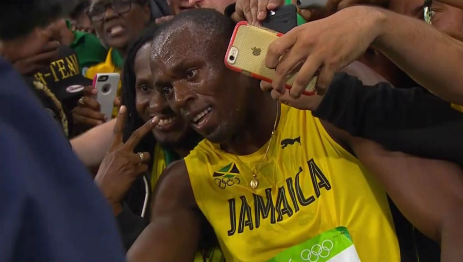 Usain Bolt at Rio 2016.