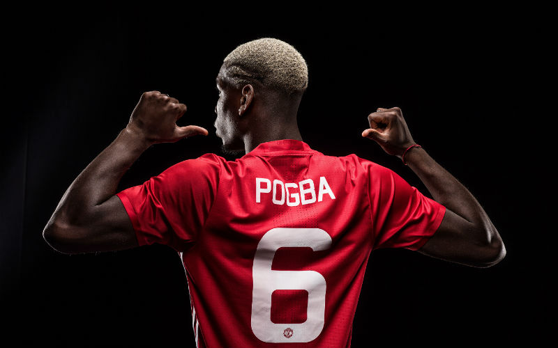 Manchester United: Pogba Wears No. 6 At Old Trafford