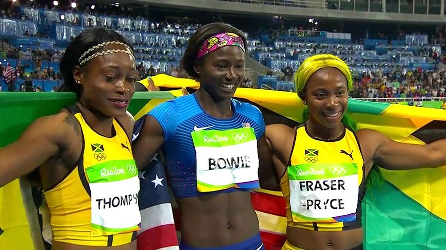 Elaine Thompson Wins Olympic 100m GOLD!