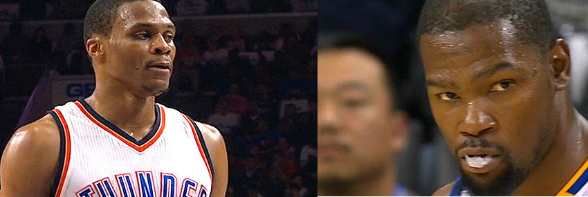 Kevin Durant v Russell Westbrook: NBA rivals
