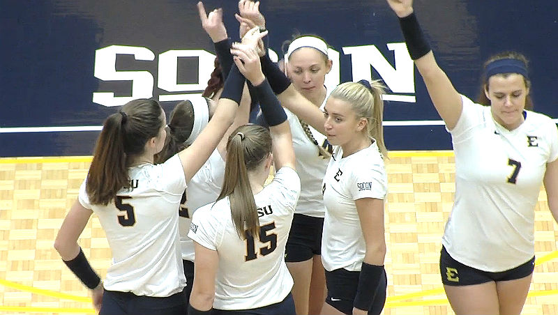 East Tennessee State Volleyball Team Reacts