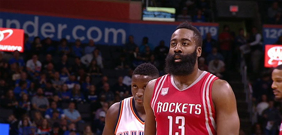 James Harden of Rockets in NBA