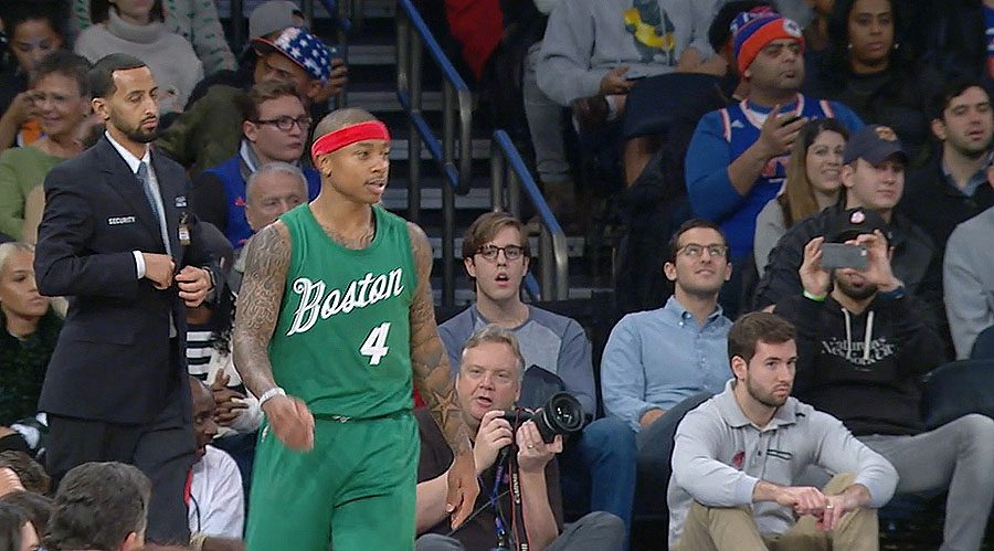 Isaiah Thomas of the Boston Celtics