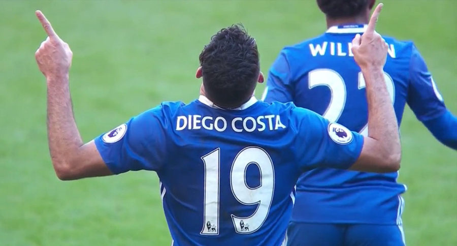 Diego Costa helps Chelsea lead the EPL standings