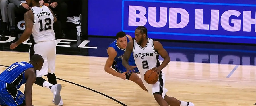 San Antonio Spurs forward Kawhi Leonard