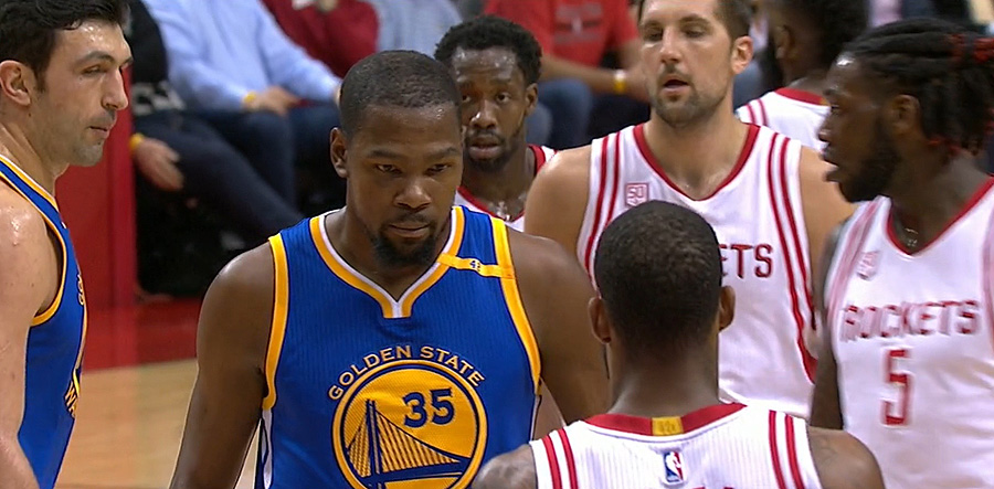 Kevin Durant of the Warriors