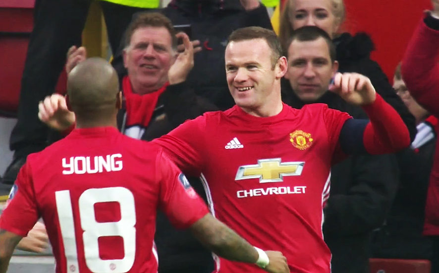 Wayne Rooney and Ashley Young