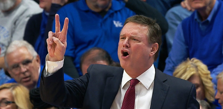 Bill Self head coach coach of the Kansas Jayhawks