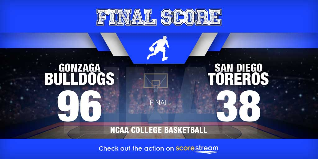 Gonzaga vs San Diego college basketball