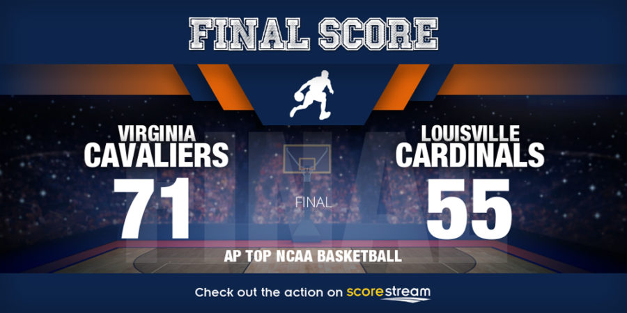 Louisville at Virginia NCAA basketball scores