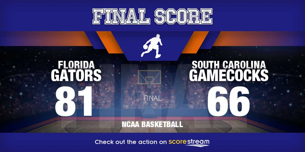 Florida v South Carolina college basketball scores