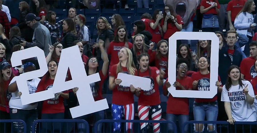 Gonzaga No. 1 in AP Top 25 rankings