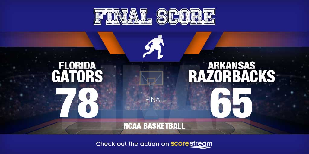 Arkansas v Florida college basketball scores