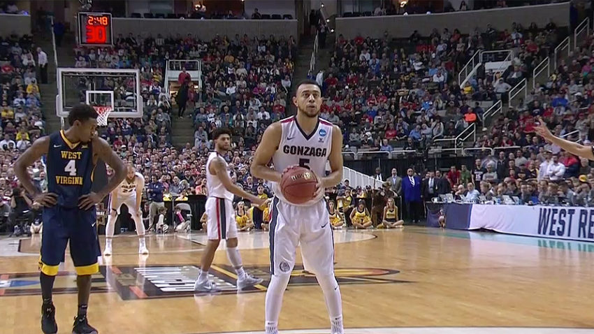 Nigel Williams-Goss of the Gonzaga Bulldogs