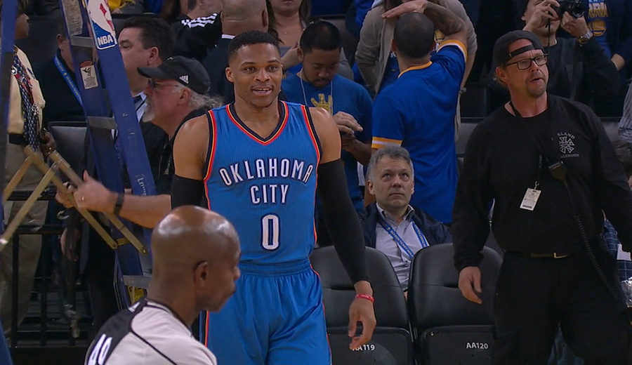 Russell Westbrook from Oklahoma City Thunder