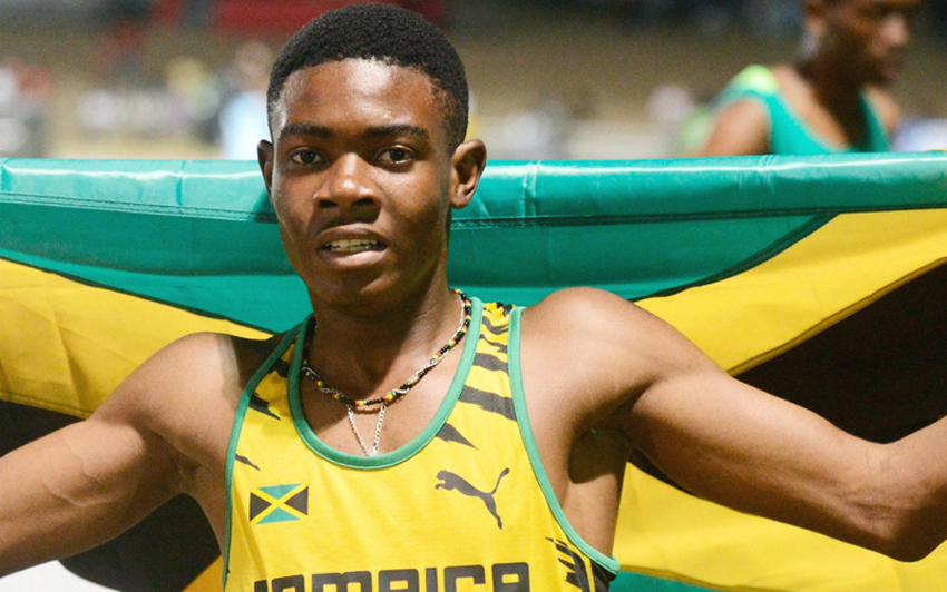Christopher Taylor at Carifta Games
