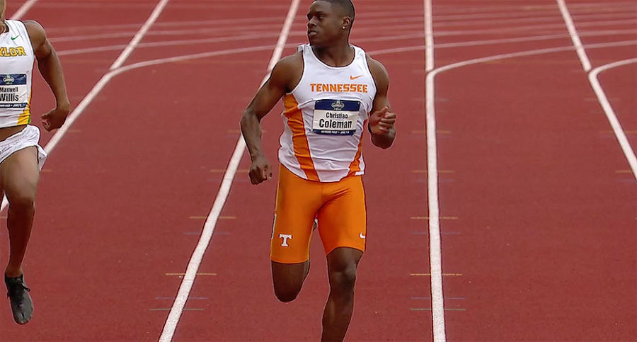 Christian Coleman of Tennessee