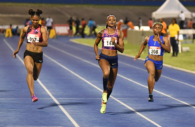 Elaine Thompson at the 2017 Jamaica Trials
