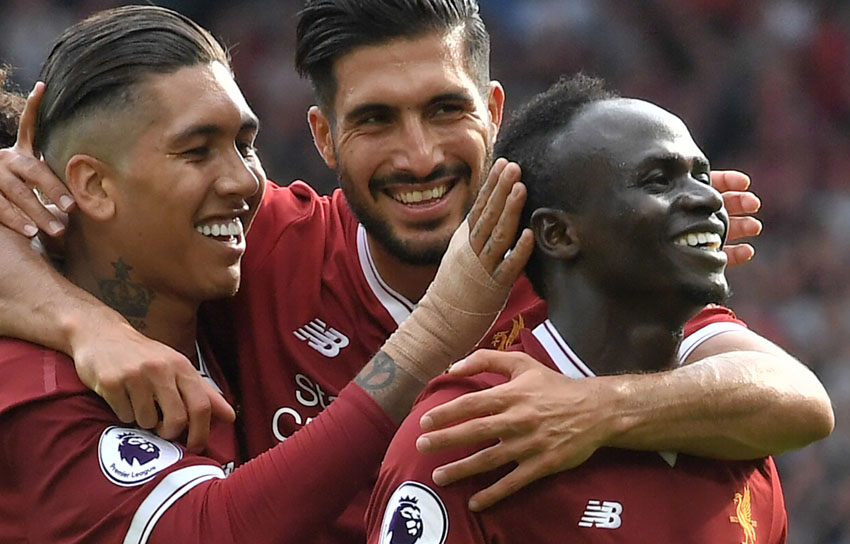 Roberto Firmino and Sadio Mane - Liverpool