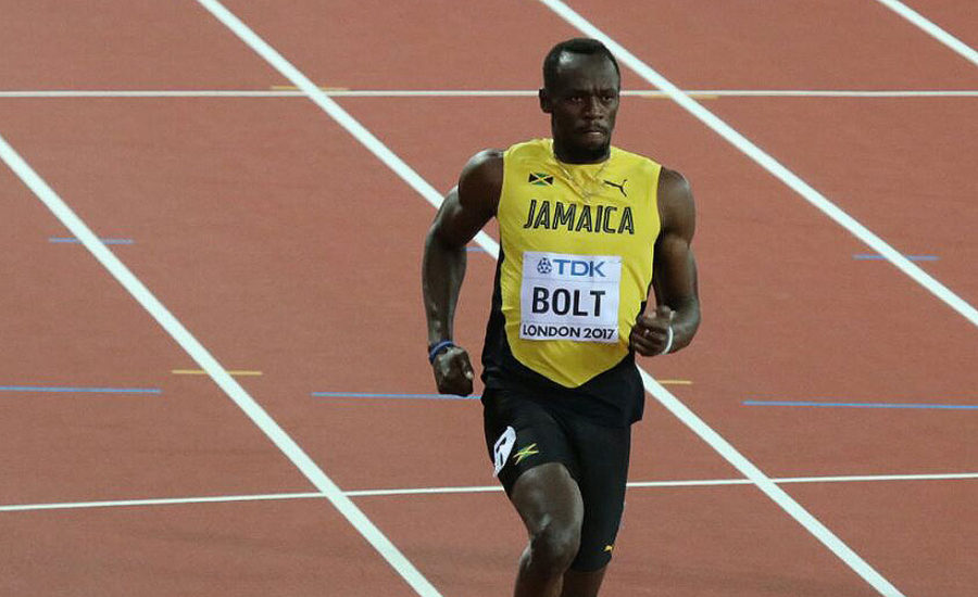 Usain Bolt at the 2017 World Championships