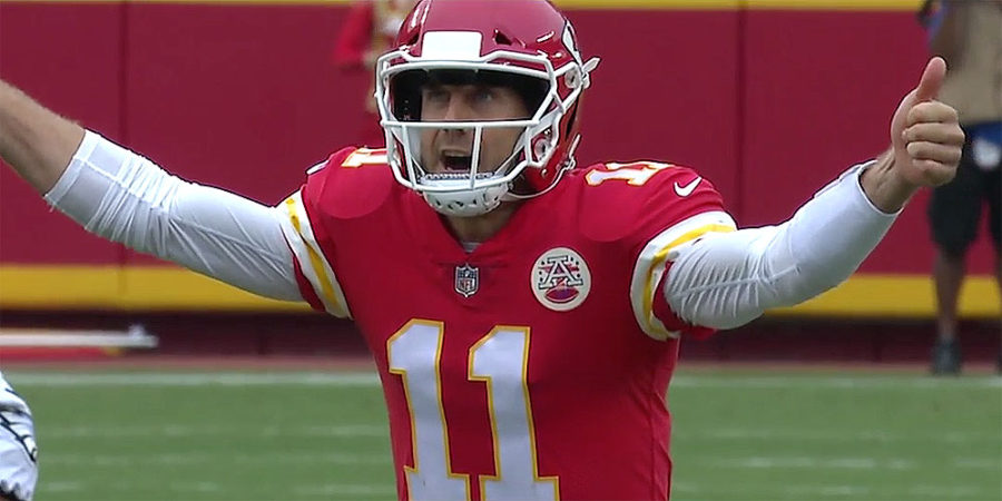 Alex Smith of the Kansas City Chiefs