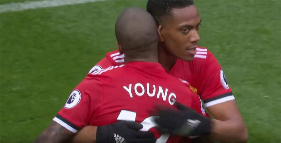 Anthony Martial and Ashley Young: Manchester United