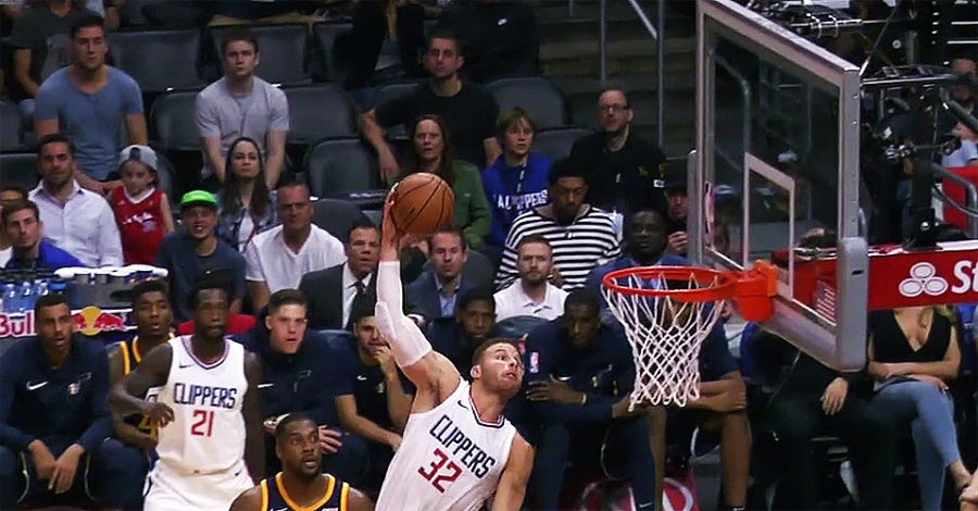 Clippers Beat Jazz 102-84; Griffin And Beverley Stars
