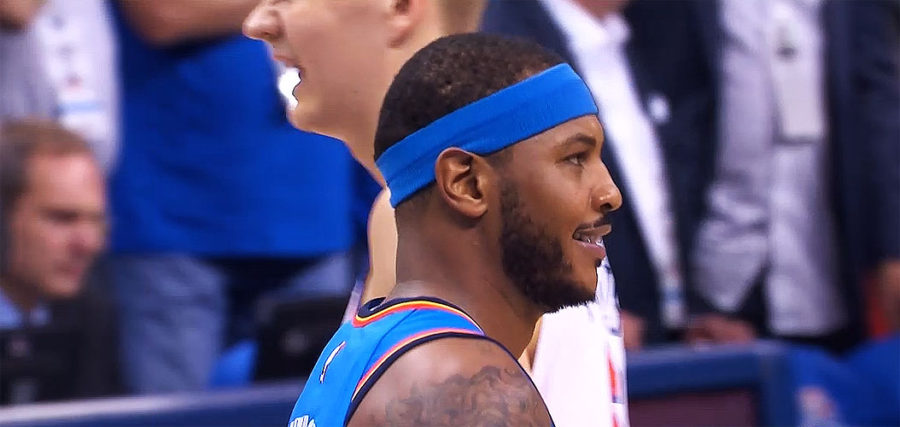 Carmelo Anthony of Oklahoma City Thunder