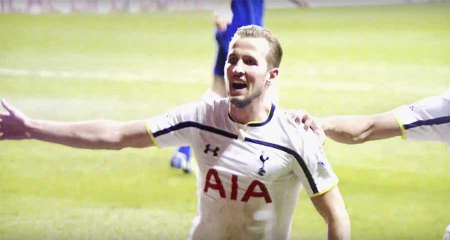 Harry Kane of Tottenham in English Premier League