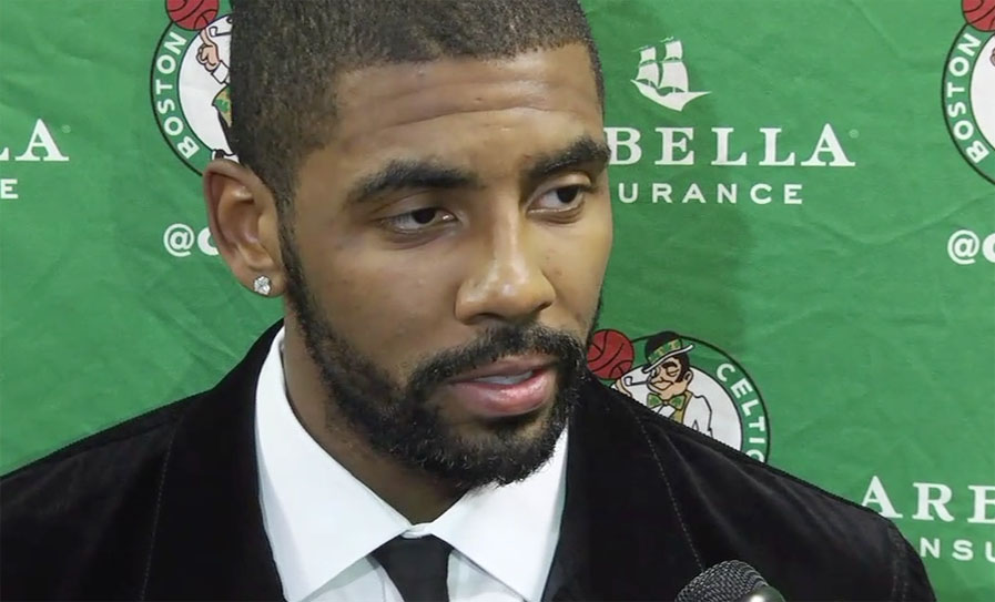 Kyrie Irving of the Boston Celtics at NBA