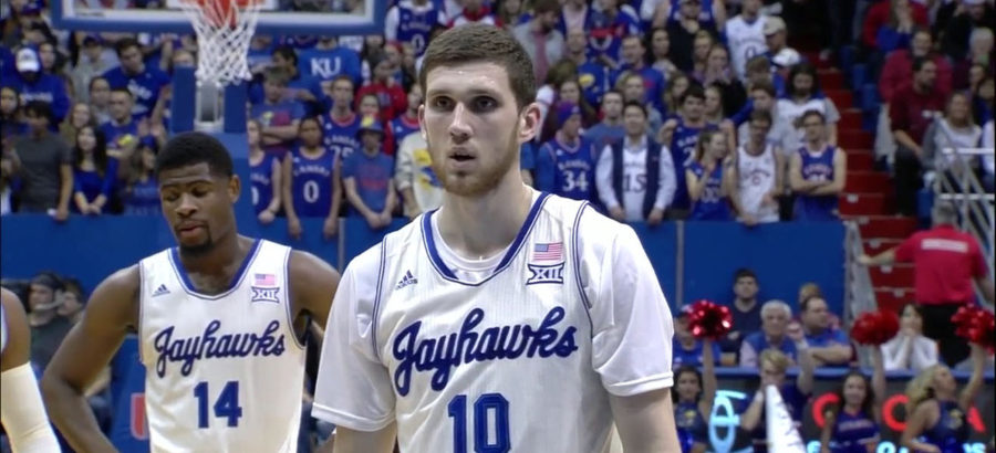 Svi Mykhailiuk for the Kansas Jayhawks