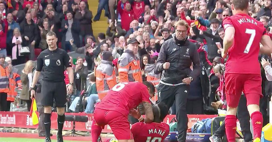 Liverpool Jurgan Klopp and Sadio Mane