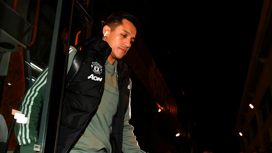 Alexis Sanchez of Manchester United FA Cup