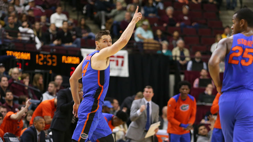 Florida Gators college basketball scores