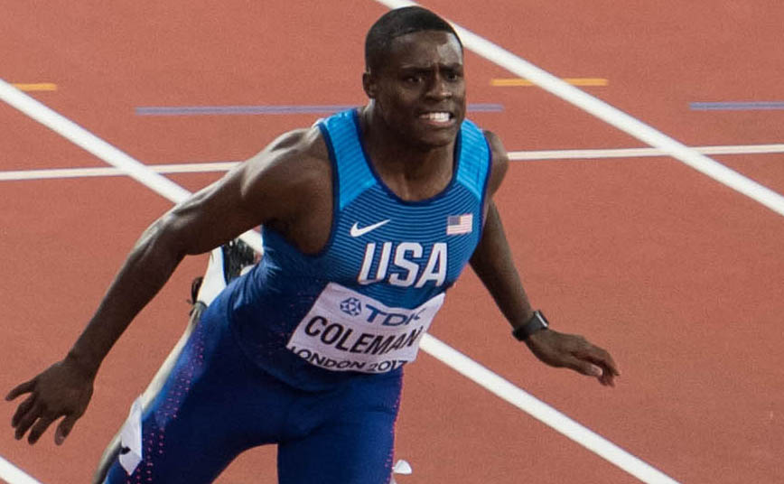 Christian Coleman - world record