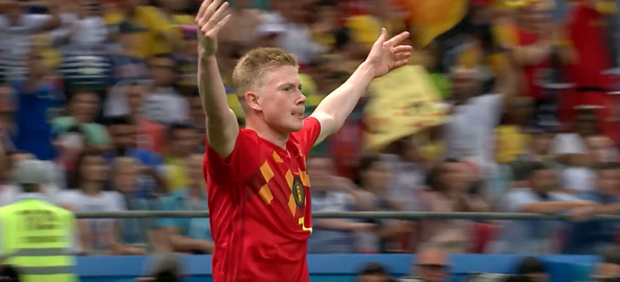Kevin De Bruyne for Belgium World Cup