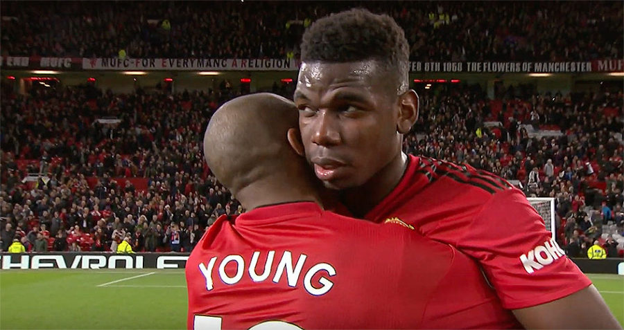 Paul Pogba and Ashley Young Manchester United