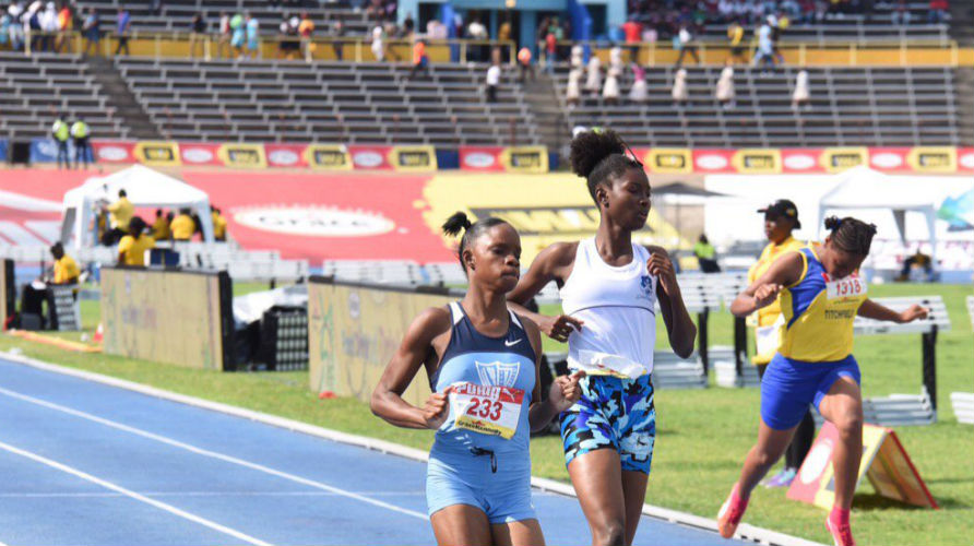 Tia Clayton of Edwin Allen at Champs 2019