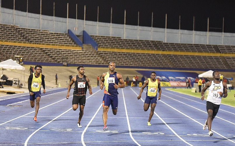 Waseem Williams and Asafa Powell Jamaica National Championships
