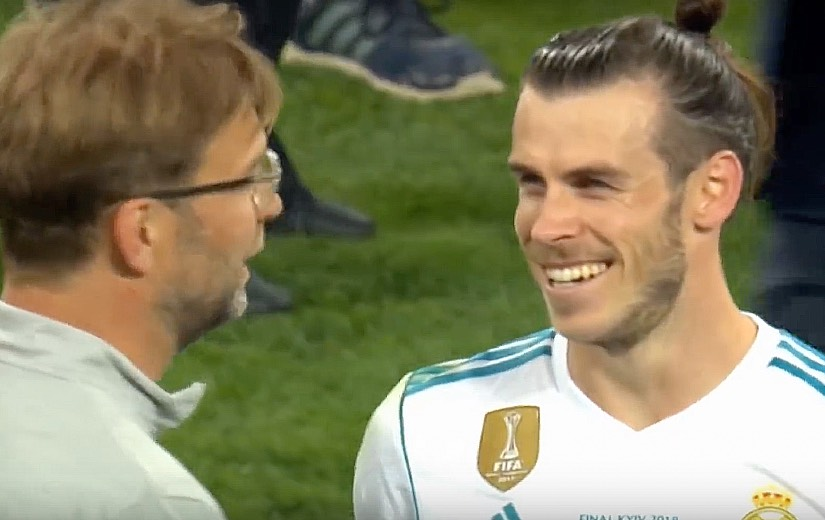 Gareth Bale and Jurgen Klopp