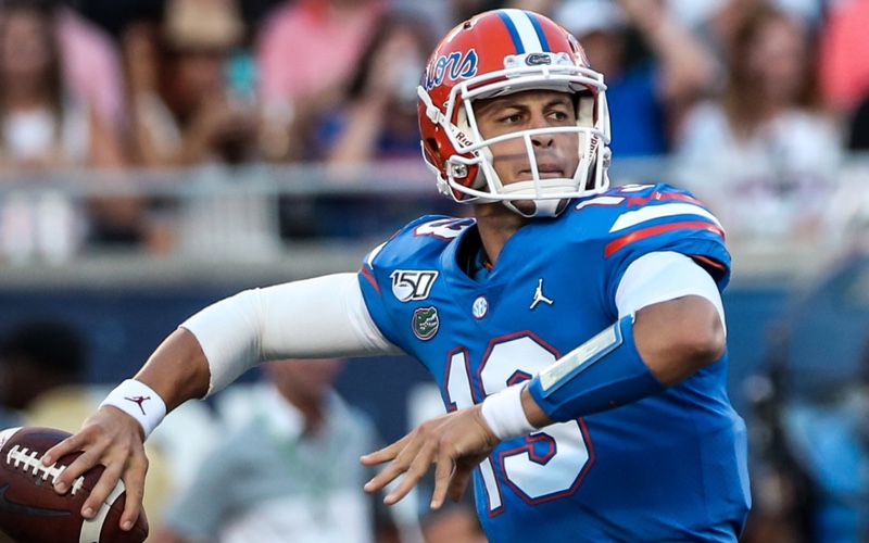 Florida Gators quarterback Feleipe Franks