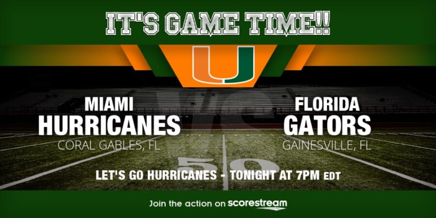 College Football Florida v Miami live streaming