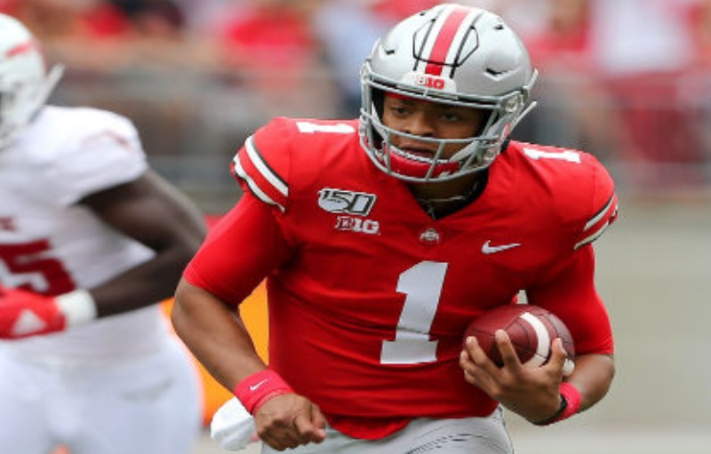 Justin Fields of Ohio State