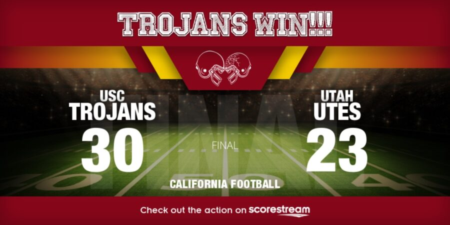 College Football Top 25 scores Utah vs USC