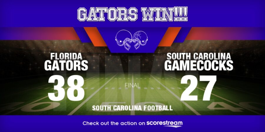 Florida vs South Carolina college football Top 25 scores
