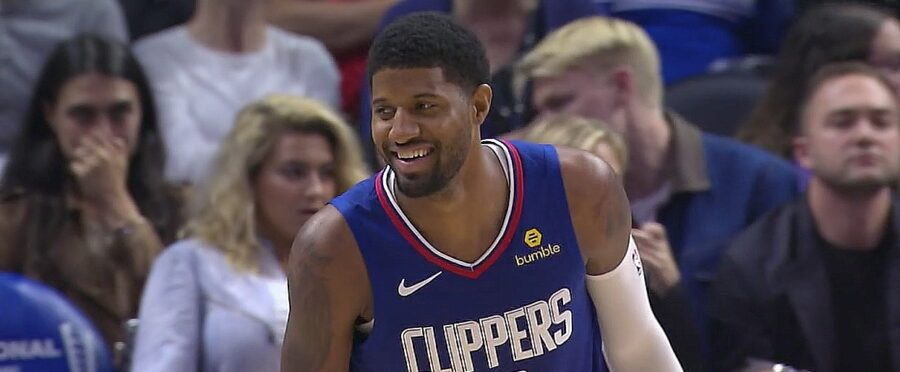 Paul George Scores 37 In LA Clippers Home Debut; Down Hawks 150-101