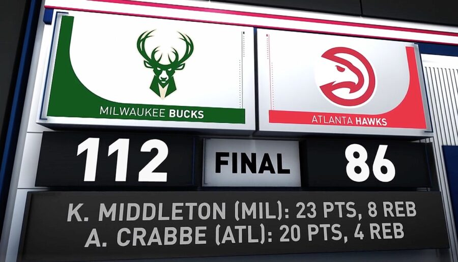 Bucks v Hawks NBA Scores
