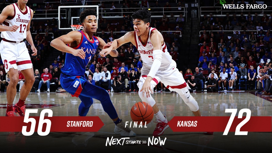 No. 5 Kansas Pulls Away For 72-56 Road Win Over Stanford