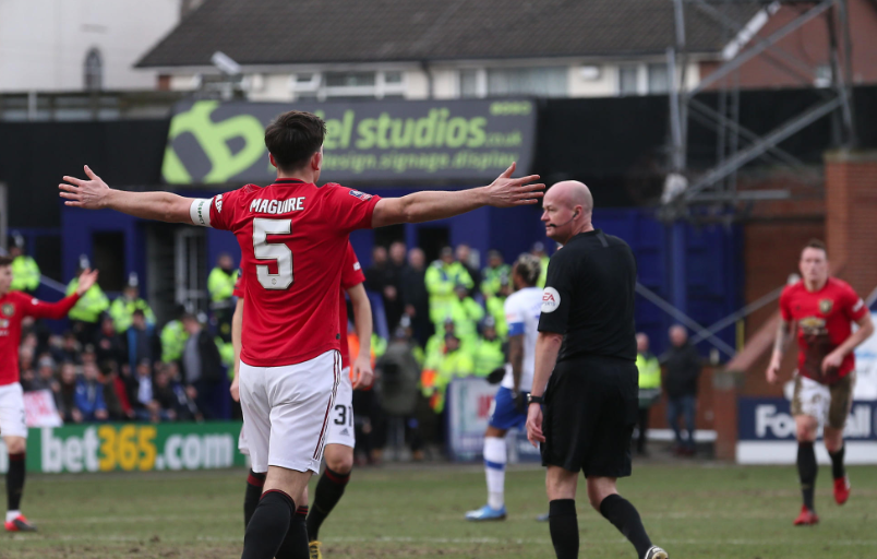 Watch Harry Maguire Scores First Manchester United Goal