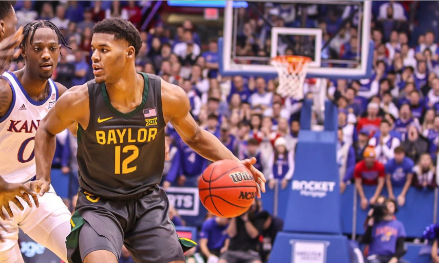 Jared Butler of Baylor in action against Kansas